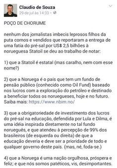 """Ivan Santos no Twitter: """"Dá RT aí galera, que o texto arregaça os argumentos do Serra, Temer et caterva, que são Lesa-Pátrias juramentados!!…"""