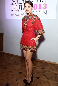 I love this dress! I would love it even more at knee length. Miroslava Duma