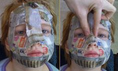 paper mache masks | going to make masks with the kids for Karnival 1/2 a cup of flour 1 cup of water A large bowl A few pages of newspaper or magazine paper Vaseline or aloe lotion Yarn, hemp or string to tie on when finished