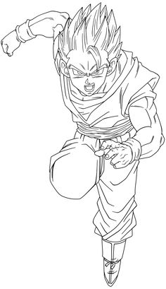 Lineart 080 - Gohan 004 by VICDBZ
