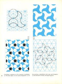 Catalog No-PIA 026 Publication-Pattern in Islamic Art Author-David Wade Year 1976 Islamic Art Pattern, Arabic Pattern, Geometry Pattern, Pattern Art, Abstract Pattern, Pattern Design, Geometric Designs, Geometric Shapes, Art Arabe