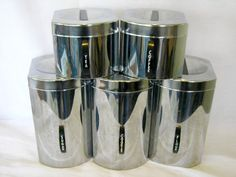 Finally founnd the perfect Kromex canister set.  It is chrome, the names look great, and it has a cookie jar!