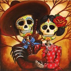 Day of the Dead Art by Sonia ʚϊɞ Nesbitt Day Of The Dead Drawing, Day Of The Dead Artwork, Day Of The Dead Party, Day Of The Dead Skull, Day Of Dead Tattoo, Mexico Day Of The Dead, Evans Art, Sugar Skull Art, Sugar Skulls