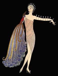 A ilustração Art Deco de Erté no Blog da Fruit | by Fruit de la Passion