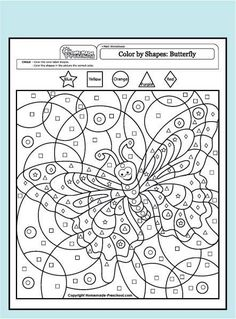My free preschool math worksheets will help teach counting, numbers, and problem solving in exciting ways! Each is fun to color and full of activity ideas. Free Preschool, Kindergarten Worksheets, Math Activities, Colouring Pages, Free Coloring, Coloring Books, Alphabet Coloring, Coloring Sheets, Adult Color By Number