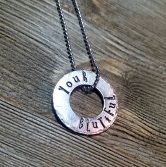 Your Blutiful Zeta open circle sorority necklace by SisterBlu on Etsy