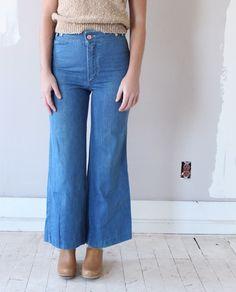 Vintage 1970s High Waist Flare Jeans   Shop Dear Society