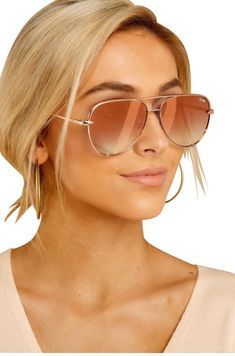 Shop the best women's sunglasses sale, available in cute styles and colors at Red Dress Boutique. Throw some shade with our super cool selection of sunglasses! Flat Top Sunglasses, Stylish Sunglasses, Gold Sunglasses, Sunglasses Women, Sunnies, Oversized Sunglasses, Mirrored Aviator Sunglasses, Trending Sunglasses, Vintage Sunglasses