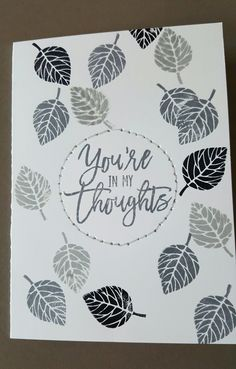 You're in my thoughts. Thoughtful branches bundle stampin'up.