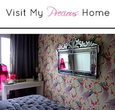 Preciously Me : My Home - peacock wallpaper - Indira Damson by Clarke & Clarke Home Decor Inspiration, Cool Mirrors, Home Wallpaper, Wall Treatments, Beautiful Bedrooms, Little Houses, Dream Decor, Small Bedroom, Floral Wallpaper Bedroom