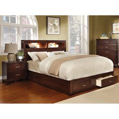 Furniture Of America Clement Storage Platform Bed With Lighting