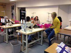 Interview during work #sewing #workshop #media