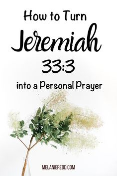 Do you ever find yourself wishing for more wisdom, insight, & understanding? Learn how to turn the Bible verse Jeremiah into a personal prayer. Prayer Times, Prayer Verses, Bible Verses, Jeremiah 33, Personal Prayer, Identity In Christ, Bible Study Journal, Christian Encouragement, Christian Women