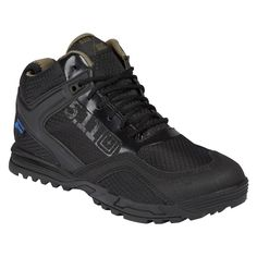 The 5.11 Range Master WP offers support, resilience and comfort in every terrain you may traverse. Helcore leather and ripstop nylon provide durability and protection, while the breathable eVent inner membrane stops moisture but allows airflow. The full-length CMEVA midsole and nylon shank enhance support, while the broadened toe box helps you keep your traction and balance. The Integrated arch lugs on the outsole allow you to climb ropes and ladders with ease, and self-cleaning forefoot…