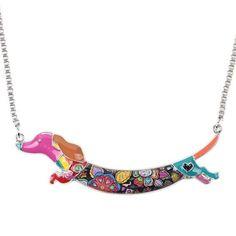 Cutie Dachshund Dog Necklace