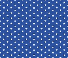 Superstars White on Blue-Small fabric by juliesfabrics on Spoonflower - custom fabric