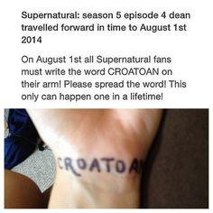 August 1, 2014. Croatoan.