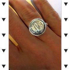 Monogrammed Nala Ring