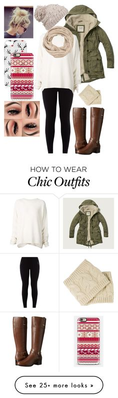 """winter"" by daisy-rebolledo on Polyvore featuring Abercrombie & Fitch, URBAN ZEN, Bandolino, prAna, maurices, Topshop and Casetify"