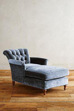 Slub Velvet Gwinnette Chaise - Interior design | Interior design ideas | Decorating ideas | House interior design | Furniture | Contemporary | Modern | Interior design projects | Decor | Decorating |