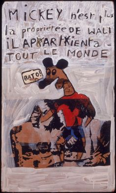 Robert Combas Bad Painting, Jean Michel Basquiat, Keith Haring, Neo Expressionism, Draw Something, Art Plastique, Oeuvre D'art, Contemporary Art, Mickey Mouse