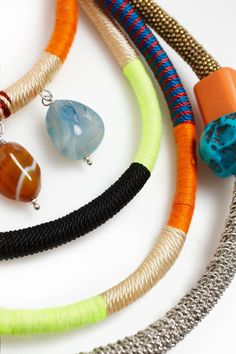 Collar tribal flúor - collares | Adolfo Dominguez shop online