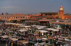 Fotos de la plaza Jemaa el Fna de Marrakech