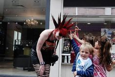 NOTHING IS MORE PUNK THEN LETTING SMALL CHILDREN THINK UR COOL AND TOUCH YOUR HAIR SPIKES