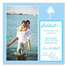 Tropical Palm Photo  - Unique Save-the-Date by The Green Kangaroo