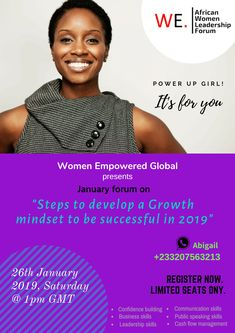 Welcome to the African Women Leadership Forum! The African Women Leadership Forum is an initiative of Women Empowered Global to inspire and empower African women to lead with confidence in business, in society and their life. Women In Leadership, Communication Skills, Up Girl, African Women, Black Women