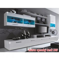 High Gloss TV and Storage Systems in Choice of Designs from With Free Delivery (Up to Off) Wood Entertainment Center, Entertainment Furniture, Wall Display Cabinet, Rustic Apartment, Tv Shelf, High Quality Furniture, Design Moderne, Interior Design Inspiration, Black