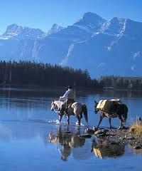 horseback riding banff wouldn't that be a view