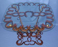 Horseshoe & harness table