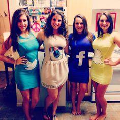 Social Media Halloween costume 2013