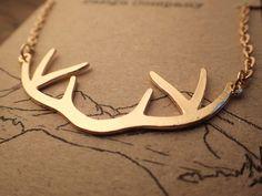 Golden Deer Antlers