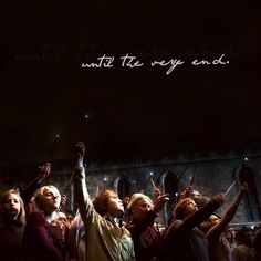This was a beautiful part of the film, when they all lit their wands and sent away the Dark Mark