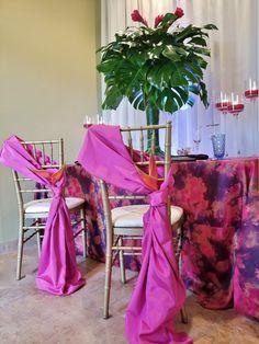 Tropical wedding tablescape   #tropical #wedding #flowers