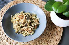 Émincé végétarien aux champignons, saveurs moutarde & estragon – Ally Bing Saveur, Oatmeal, Grains, Breakfast, Recipes, Food, Yummy Recipes, Mustard, Vegetarische Rezepte