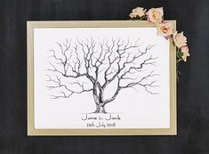 INSTANT DOWNLOAD Wedding Fingerprint Tree /decoration wedding Birthday Party Decorations, Tree Decorations, Wedding Decorations, Birthday Parties, Wedding Fingerprint Tree, Fingerprint Art, Presentation Pictures, Gift Drawing, Black And White Tree