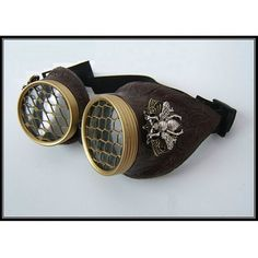 Halloween Steampunk goggles. Large bee brass by OntheWingsofSteam, $39.99
