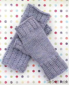 Fingerless Mitts Worsted Weight Yarn Project