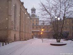 Zeitz/ Germany, in winter.