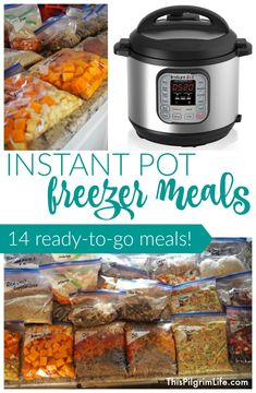 Make 14 delicious and family-friendly Instant Pot freezer meals. Best Picture For Instant Pot Recipes Healthy Family cheap For Your Taste You are looking Instant Pot Pressure Cooker, Pressure Cooker Recipes, Pressure Cooking, Pressure Pot, Pressure Cooker Chicken, Crockpot Recipes, Cooking Recipes, Easy Recipes, Freezer Recipes