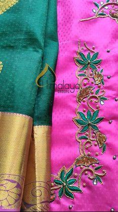 Aari Work Blouse, Hand Work Blouse Design, Black Blouse Designs, Saree Blouse Designs, Maggam Work Designs, Aari Embroidery, Hand Designs, Party Dress, Fashion Dresses