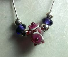 Murano Glass  Pinky necklace