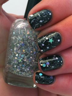 "Nail polish - ""Ode to the elite"" silver holographic glitter nail ..."