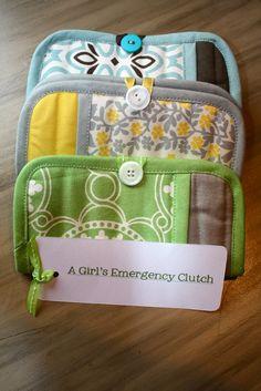 Antsi-Pants: A Girl's Emergency Clutch from pot holders & zip locks