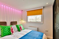Bedroom at Sussex Gardens Apartments in Paddington, London.