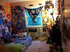 trippycool bedroom psychedelic - Hippie Bedroom Ideas