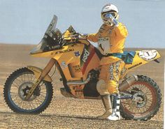 Gaston Rahier, Suzuki, Dakar Rally.